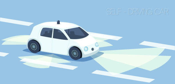 self driving car - self driving cars stock illustrations, clip art, cartoons, & icons