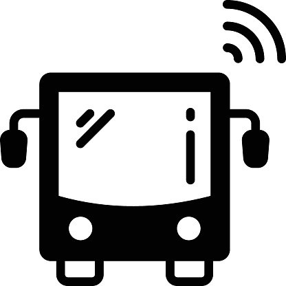 self driving trucks and vans Concept Vector Icon Design, Autonomous driverless vehicle Symbol, Robo car Sign, Automated driving system stock illustration