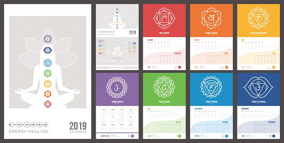 Self healing and chakras calendar 2019