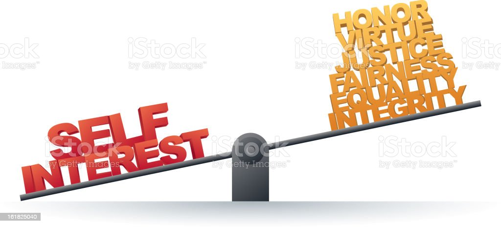 Self Interest Prevails royalty-free self interest prevails stock vector art & more images of assistance