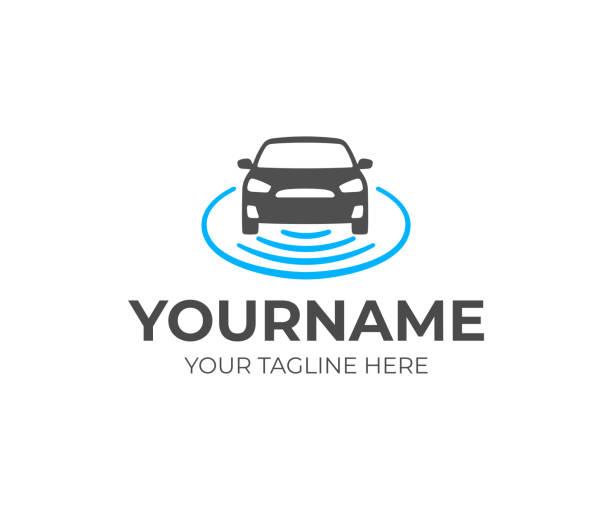 Self-driving vehicle design. Autonomous car vector design. Driverless car illustration Self-driving vehicle design. Autonomous car vector design. Driverless car illustration driveway stock illustrations
