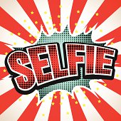 Selfie Comic Speech  Bubble. Vector illustration