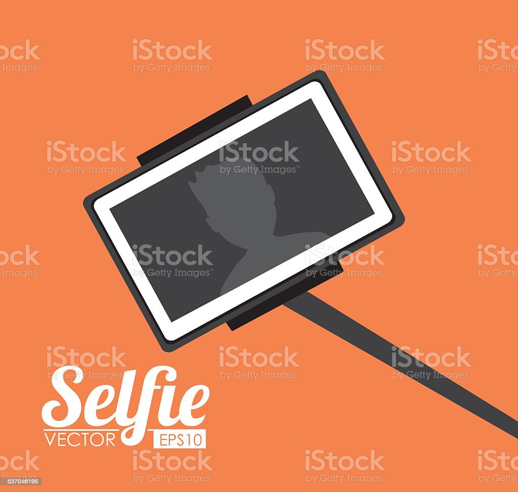 Selfie design, vector illustration. vector art illustration