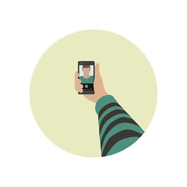 selfie-kult. - selfie stock-grafiken, -clipart, -cartoons und -symbole