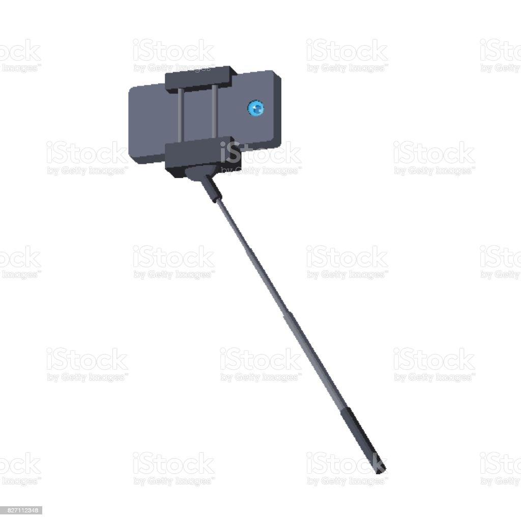 Selfie Stick Einbeinstativ Selfie Selbstportraittool Stock Vektor ...