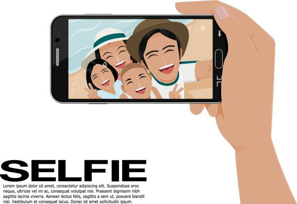 selfie vector art illustration