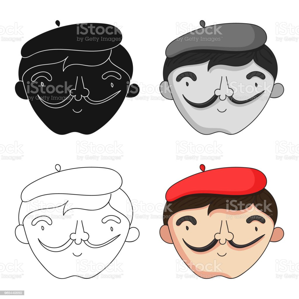 Self-portrait of artist icon in cartoon style isolated on white background. Artist and drawing symbol stock vector web illustration. royalty-free selfportrait of artist icon in cartoon style isolated on white background artist and drawing symbol stock vector web illustration stock vector art & more images of adult