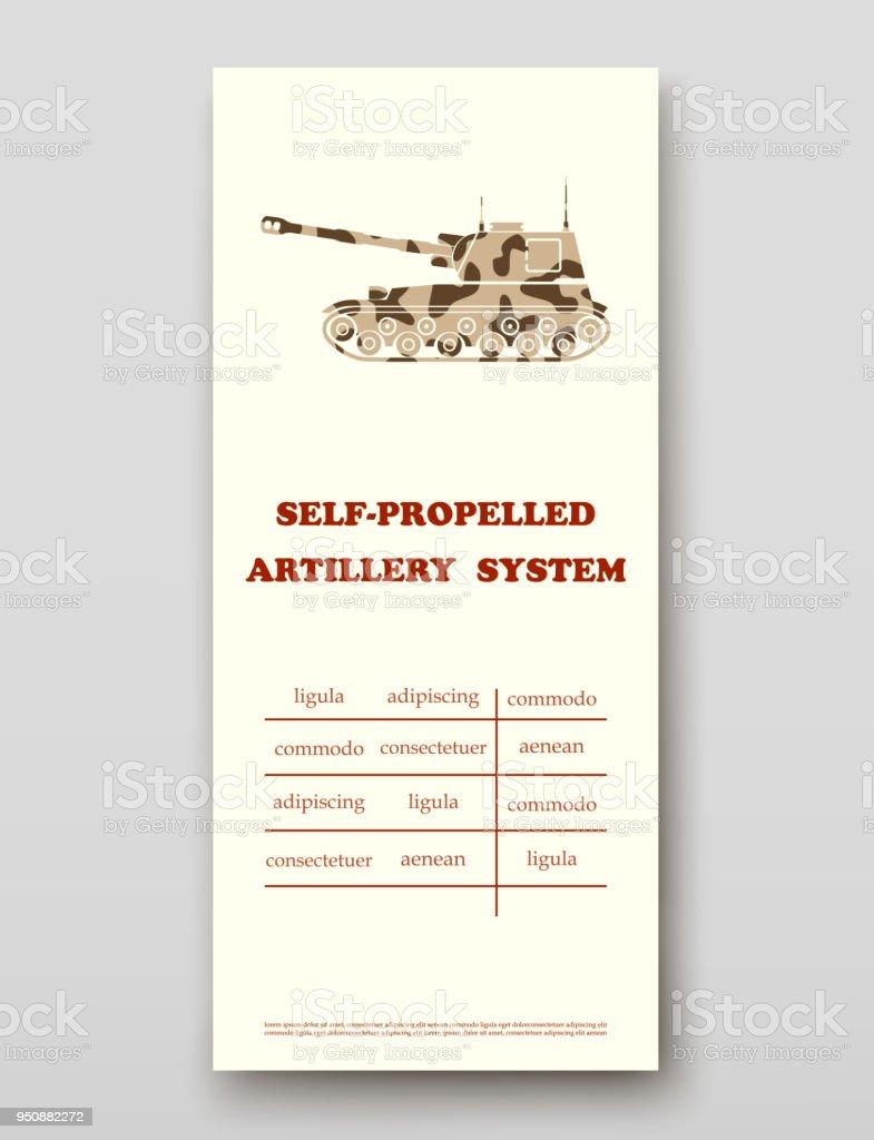 selfpropelled artillery system leaflet cover presentation abstract, Presentation Abstract Template, Presentation templates