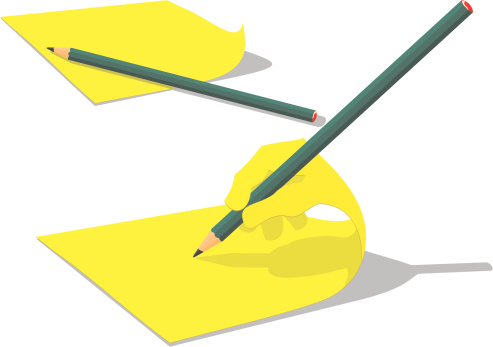 Self-Writing Adhesive Note