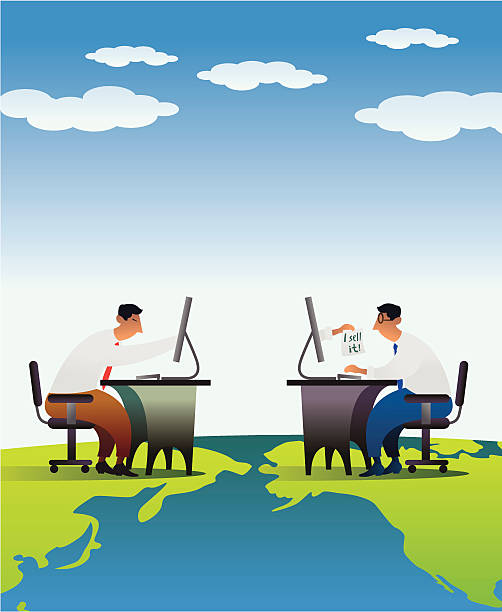 i sell it - travel agent stock illustrations, clip art, cartoons, & icons