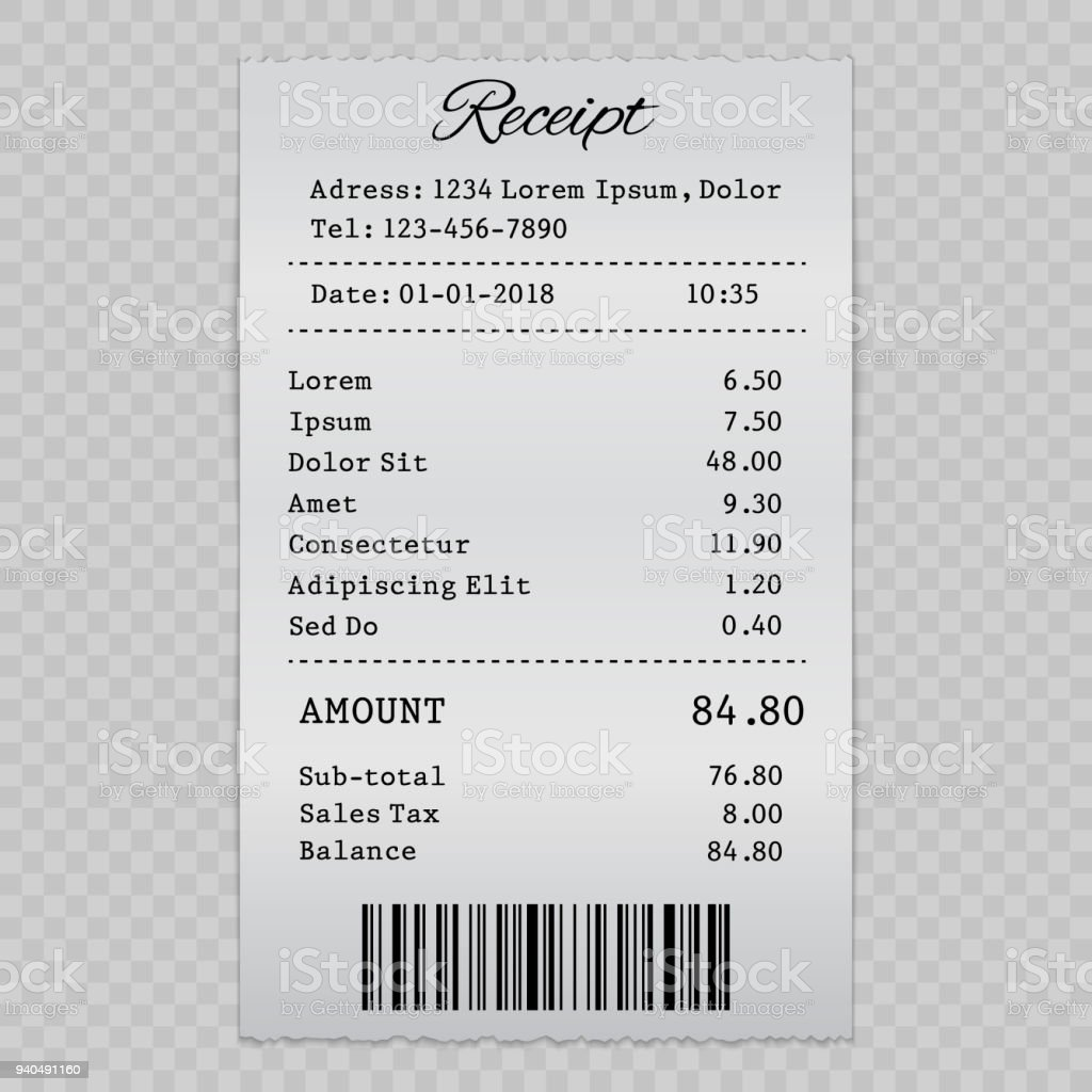 sell receipt stock vector art more images of accountancy 940491160