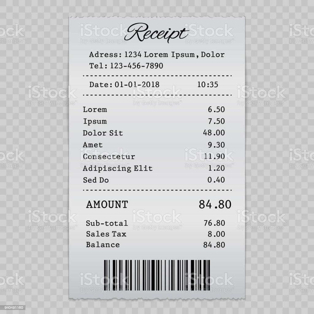 sell receipt - arte vettoriale royalty-free di Affari