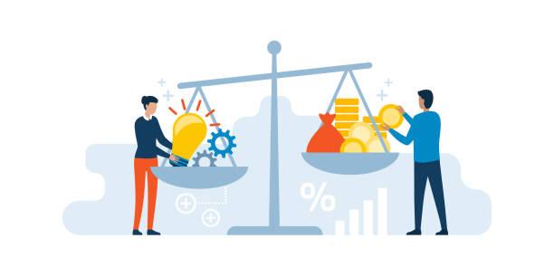 창의적인 아이디어 판매 - 가격 stock illustrations