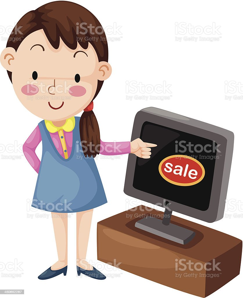 selling television royalty-free stock vector art