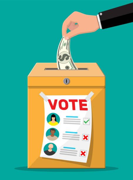 Verkaufsvotum für die Wahl – Vektorgrafik