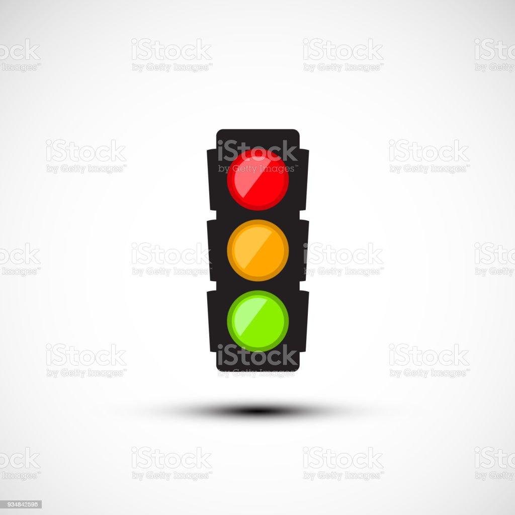 Icono de semáforo - ilustración de arte vectorial