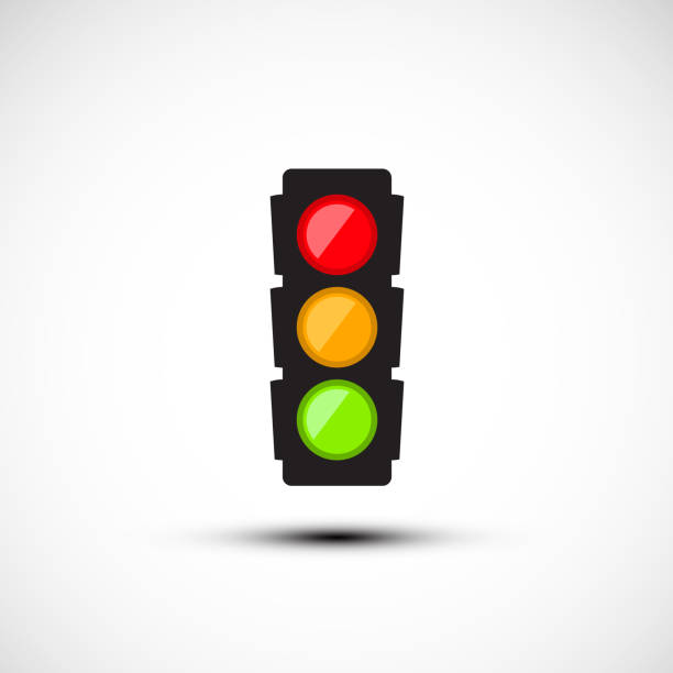 semaphore icon - stoplights stock illustrations, clip art, cartoons, & icons