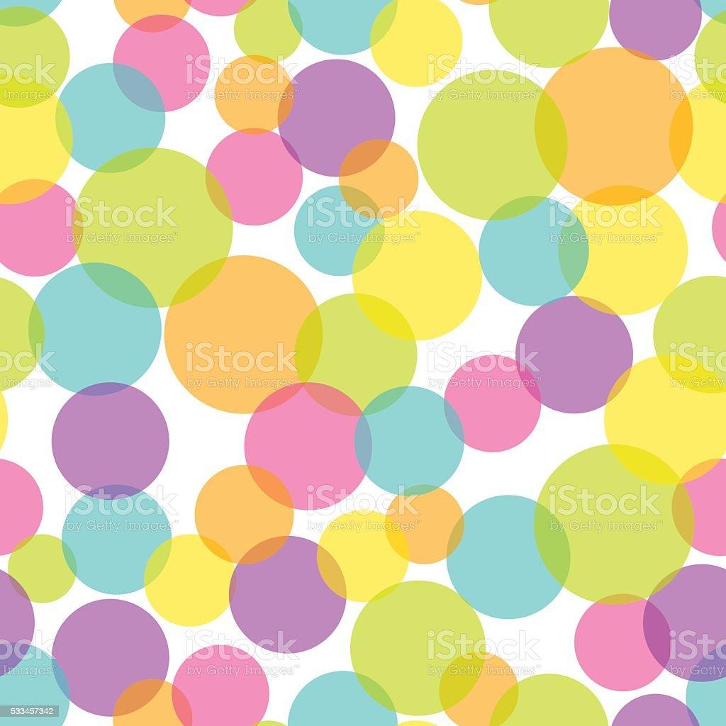 semi transparent pop bubble seamless pattern background stock