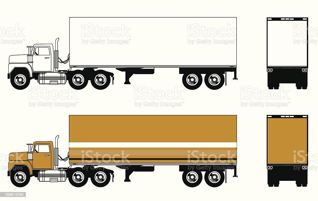 Semi Truck End Loader royalty-free stock vector art