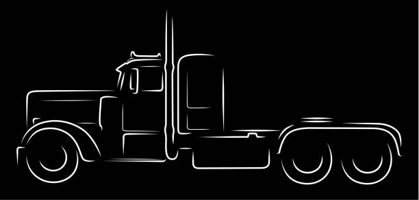 Semi Truck Illustrations Royalty Free Vector Graphics