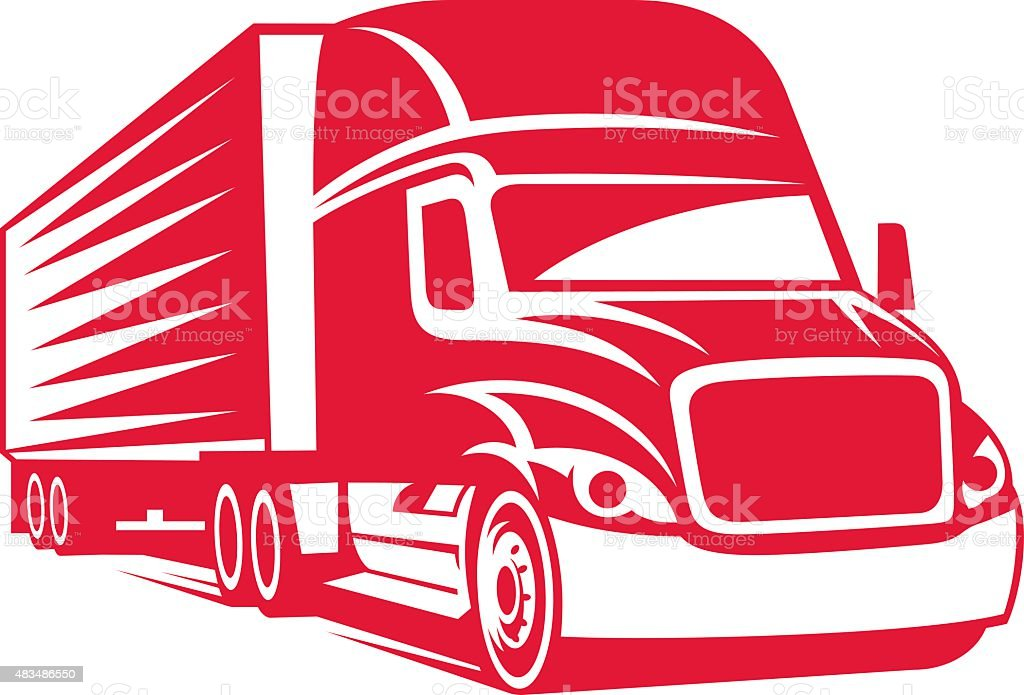 Semi TRUCK vector art illustration