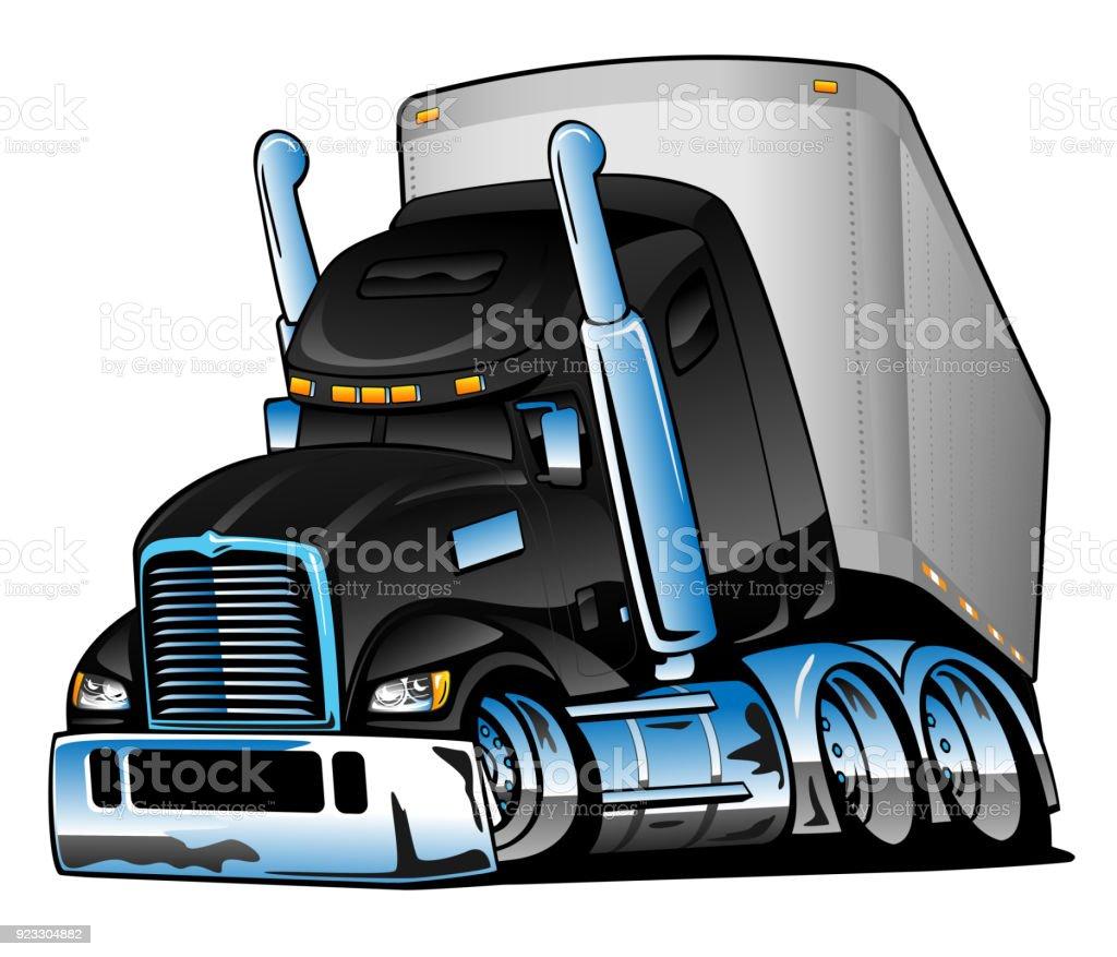royalty free 18 wheeler height clip art vector images rh istockphoto com  eighteen wheeler clip art