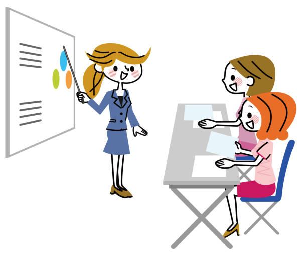 セミナー風景。 - 教室点のイラスト素材/クリップアート素材/マンガ素材/アイコン素材