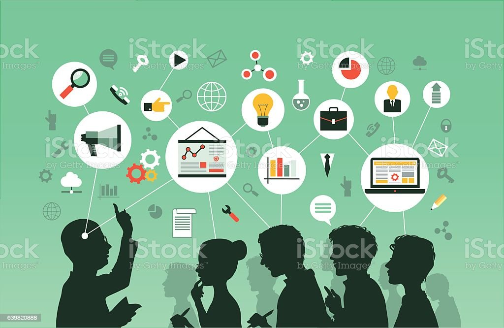 Seminar royalty-free seminar stock illustration - download image now