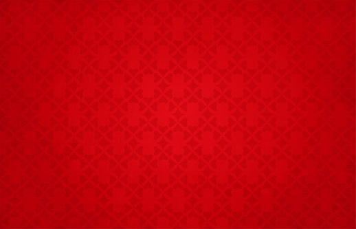 Semi-seamless (Only pattern is seamless & not grunge) Bright vibrant reddish maroon coloured grunge backgrounds with an pattern of small hearts forming a floral pattern allover the horizontal frame