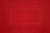 Horizontal vector illustration of maroon colored Xmas wallpaper. There is a border of small elongated dots or marks all around an empty rectangle. Can be used as Christmas, New Year party related celebration, festive backdrops, gift wrapping paper sheet, greeting cards or posters.
