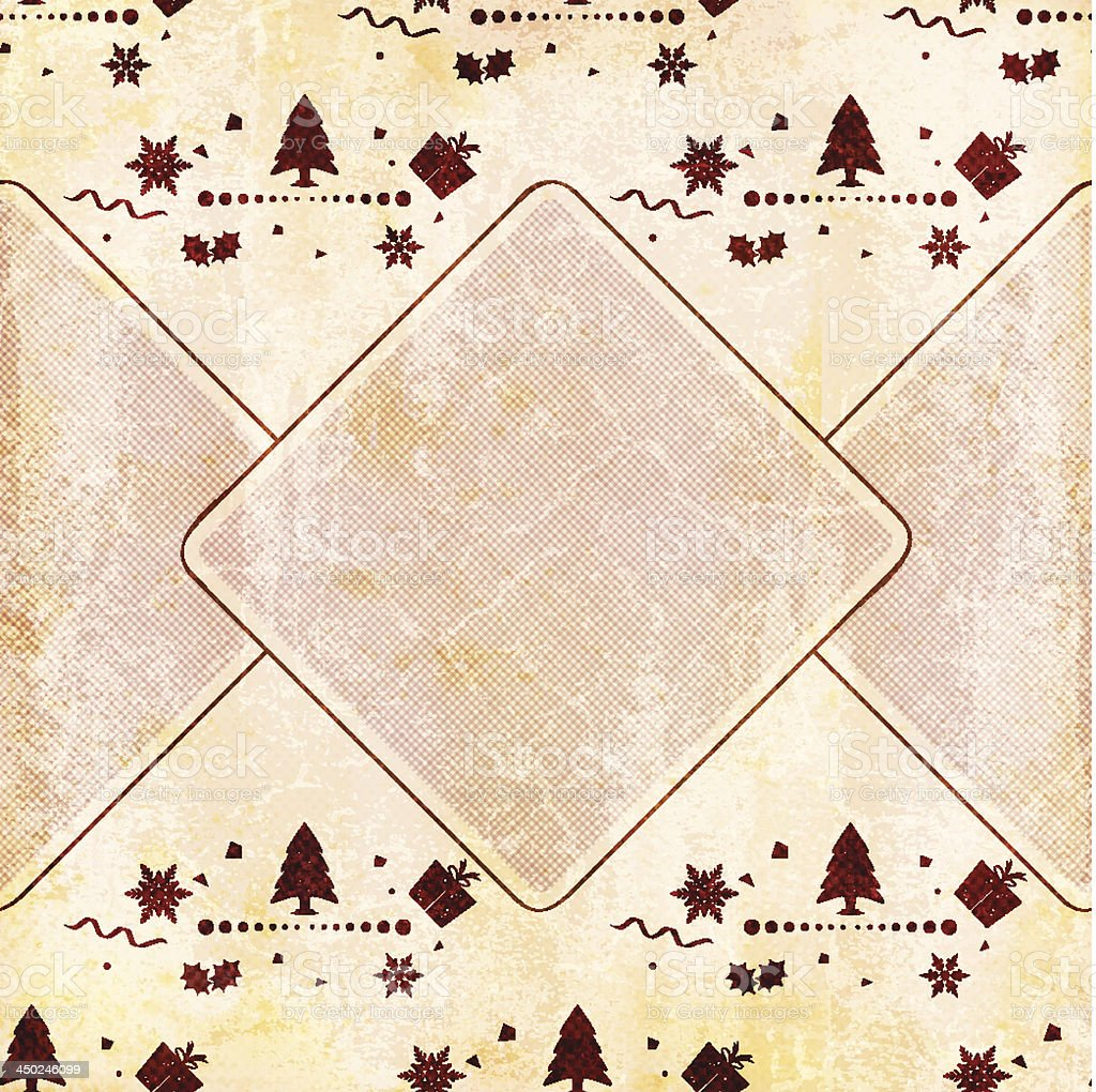 Semi-seamless Seasonal wrapping paper royalty-free stock vector art
