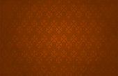Dark coffee brown colored grunge Christmas modern background with abstract pattern of bunches of hearts making a flower as watermark all over. The pattern is semi seamless, the floral pattern being seamless while grunge is not. Apt for Christmas, New Year Day, birthday, Valentine's Day backdrops, posters, greetings, cards,  wrapping paper sheet.