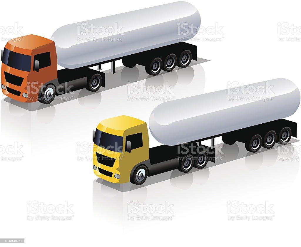 Semi-trucks icons set royalty-free stock vector art