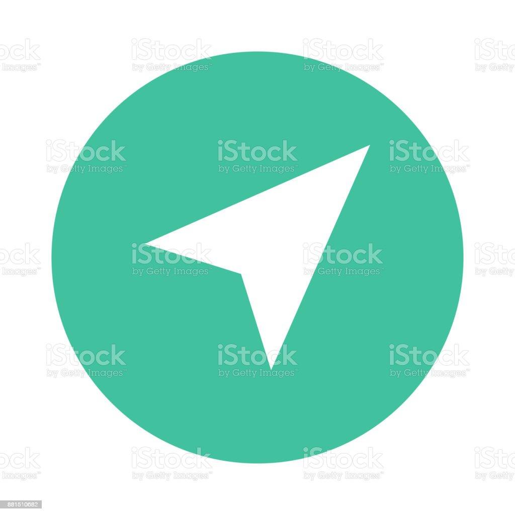 send glyphs flat circle icon