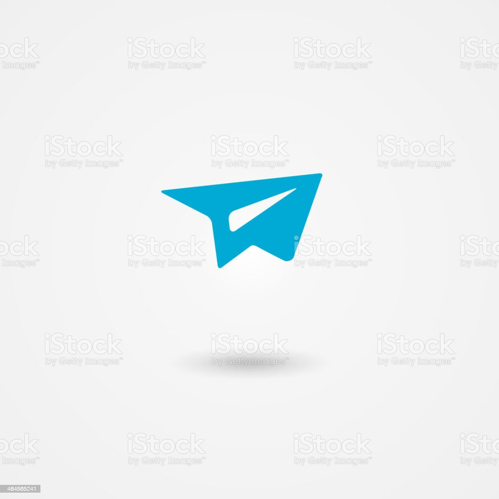 send mail icon vector art illustration