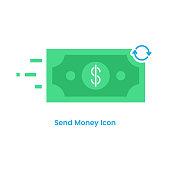istock Send Money Icon Vector Design. 1297737990