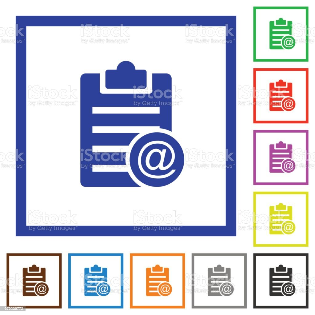 Send note as email flat framed icons royalty-free send note as email flat framed icons stock vector art & more images of applying