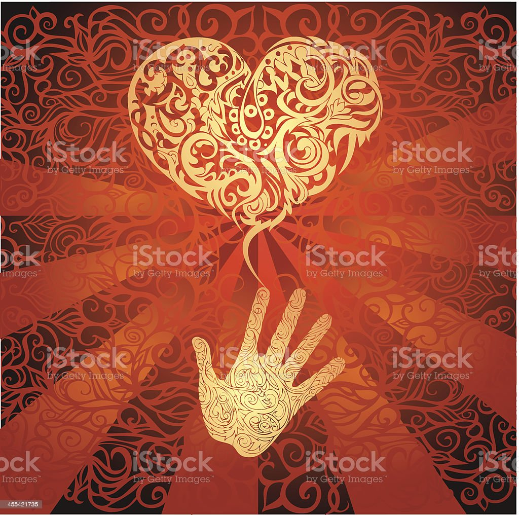 sending love vector art illustration