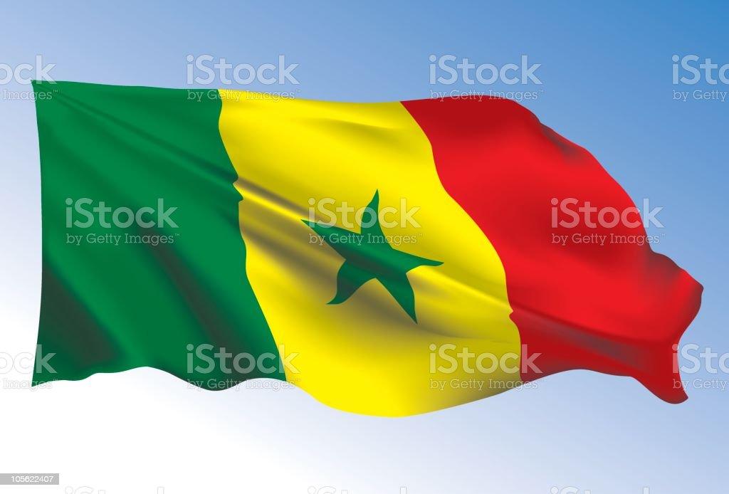 Senegal Flag royalty-free stock vector art