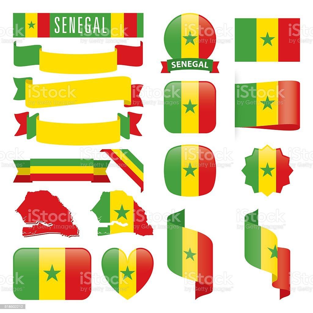 Ilustración De Senegal Banderas Y Más Banco De Imágenes De