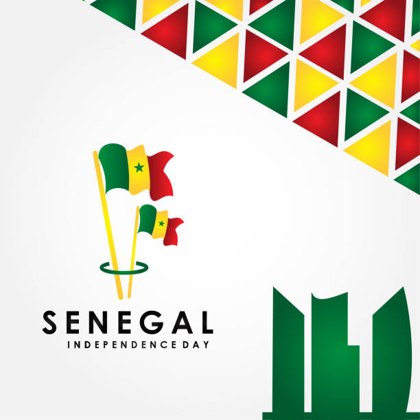 Senegal Independence Day Vector Design For Banner or Background vector art illustration