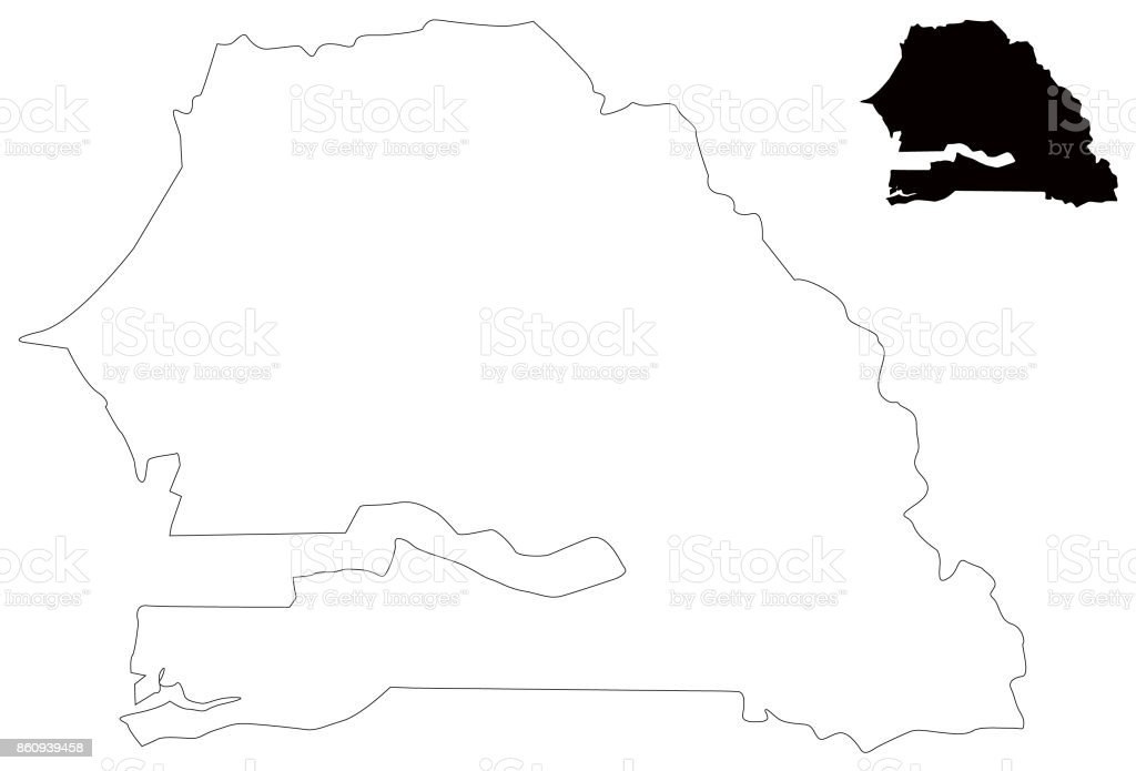 Senegal Map Stock Vector Art IStock - Senegal map vector