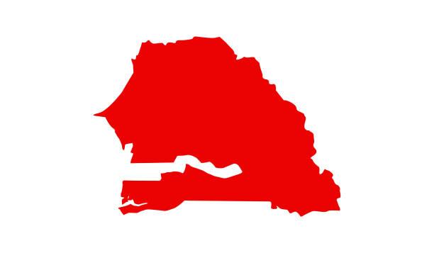 Royalty Free Dakar Clip Art Vector Images Illustrations IStock - Senegal map vector