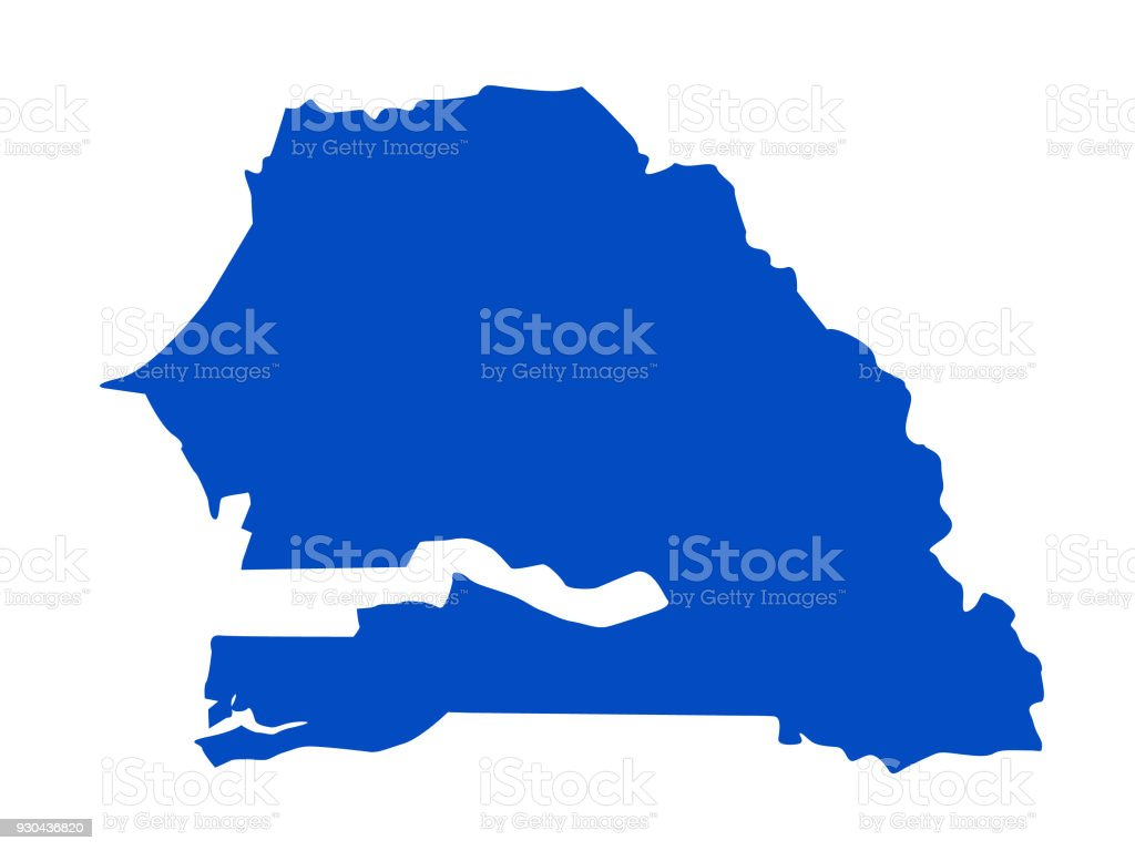 Senegal Map Stock Vector Art More Images Of Africa 930436820 Istock