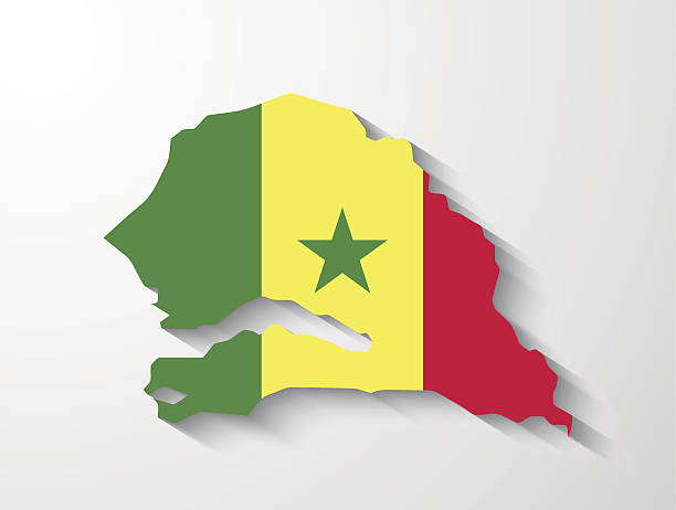 Royalty Free Senegal Map Clip Art Vector Images Illustrations - Senegal map vector
