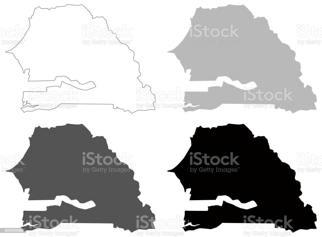Senegal Maps Stock Vector Art IStock - Senegal map vector