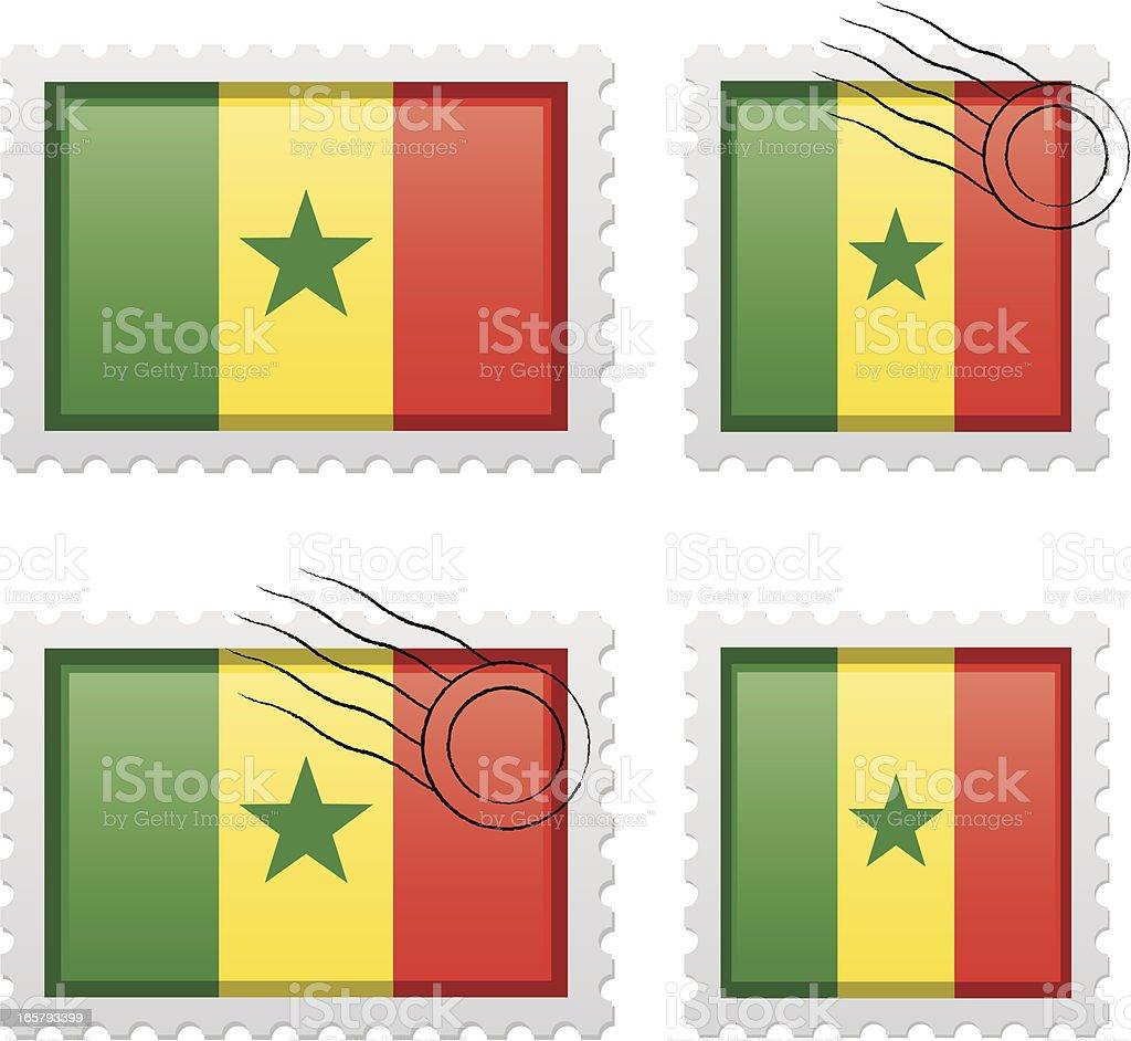 Senegal stamp royalty-free stock vector art