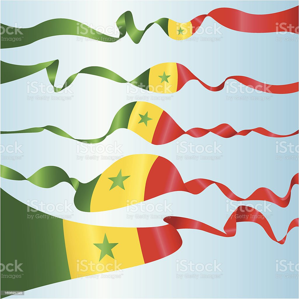 Senegalese Banners vector art illustration