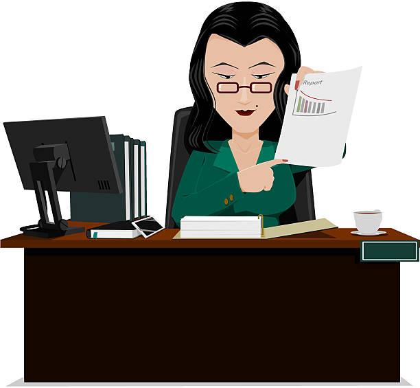 ilustrações de stock, clip art, desenhos animados e ícones de senior contabilista - senior business woman tablet