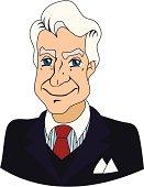 Caricature of an older businessman